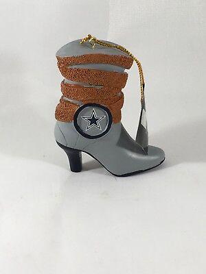NEW Team Sports America Dallas Cowboys Cowboy Boot Ornament NFL