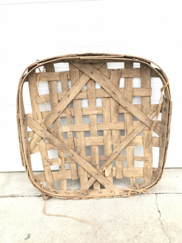 Antique Original Rogersville Tennessee Tobacco Basket Handmade Barn Kept