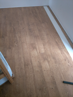 Floating timber flooring spotted gum