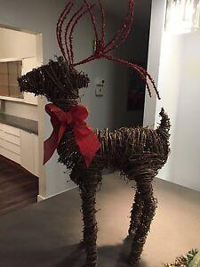 Wicker Reindeer Christmas Decoration