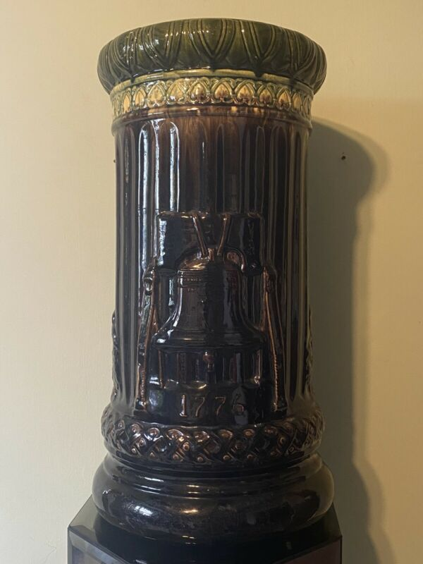 Vintage McCoy Pottery Philadelphia Liberty Bell Umbrella Holder Stand Vase 1776