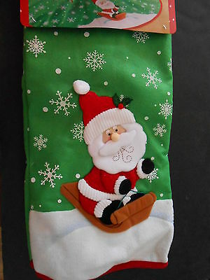 Holiday Time 48in Christmas tree skirt NWT Santa Claus