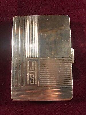 German Art Deco 835 Silver Pill Box