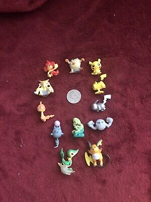 Lot of 12 Pokemon Figures  Small Tiny Pocket Monsters Toys Not Cake Toppers Rare
