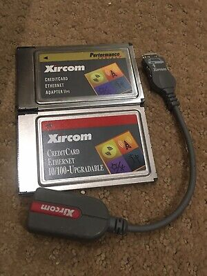 Xircom CreditCard Ethernet 10/100 PCMCIA PC Card CE3B-100BTX +Cable