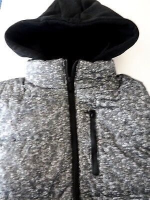 Unisex Hooded Vest Gray and Black Size L