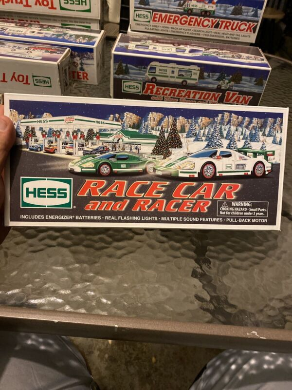 NEW NIB 2009 HESS TOY TRUCK RACE CAR AND RACER Car New