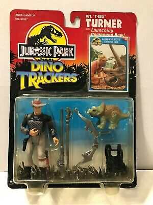 NEW 1993 Kenner Jurassic Park Dino Trackers Sgt. T-Rex Turner with Compund Bow