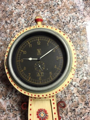Rare Dealer Promo OCTO Rolls Royce Racing Clock 1910's Swiss Made store display