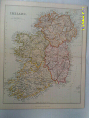 Antique Map of IRELAND. Pub'd Wm. Mackenzie. Undated. c1880.