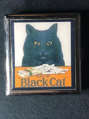 Unused Vintage Looking Black Cat Cigarette Case / Wallet Feline Free Shipping