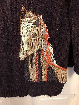 196. MOTH ANTHROPOLOGIE Saddleback Horse Sweater Size Small