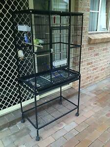Bird cage & stand & 2 budgies Lake Illawarra Shellharbour Area Preview