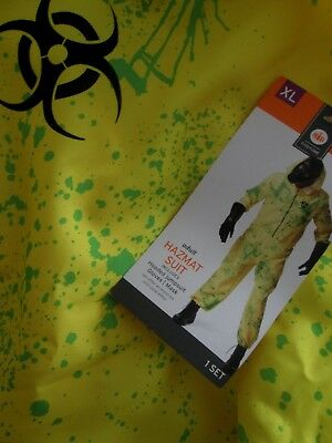 Adult HAZMAT SUIT Costume XL Hooded Jumpsuit NEW Men NWT 1pc SUIT ONLY](Yellow Hazmat Suit Halloween)