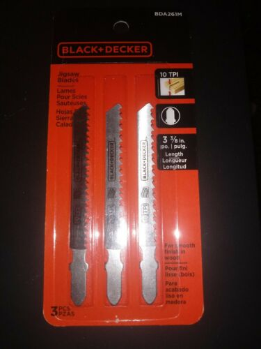 BLACK+DECKER BDA261M 3pk Scroll Jig Saw Blades,10TPI, Brand