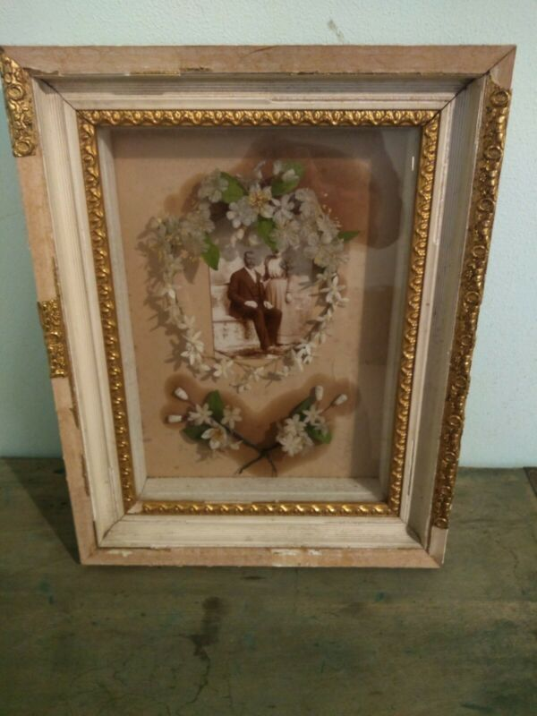 Original Antique Victorian Wedding Shadowbox