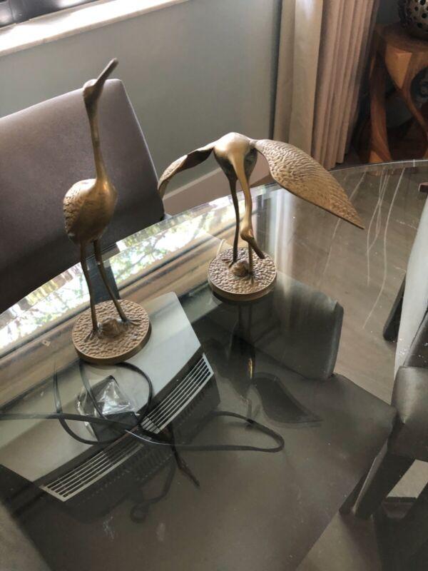 Set of Brass Pelicans