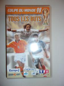 K7 video vhs coupe du monde 98 france 1998 tous les - Tous les buts coupe du monde 1998 ...