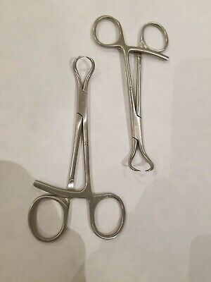 Lot Of 2 Surgical Forceps Pointed Lobster Delta Anmuth Medical Aptus A-7001