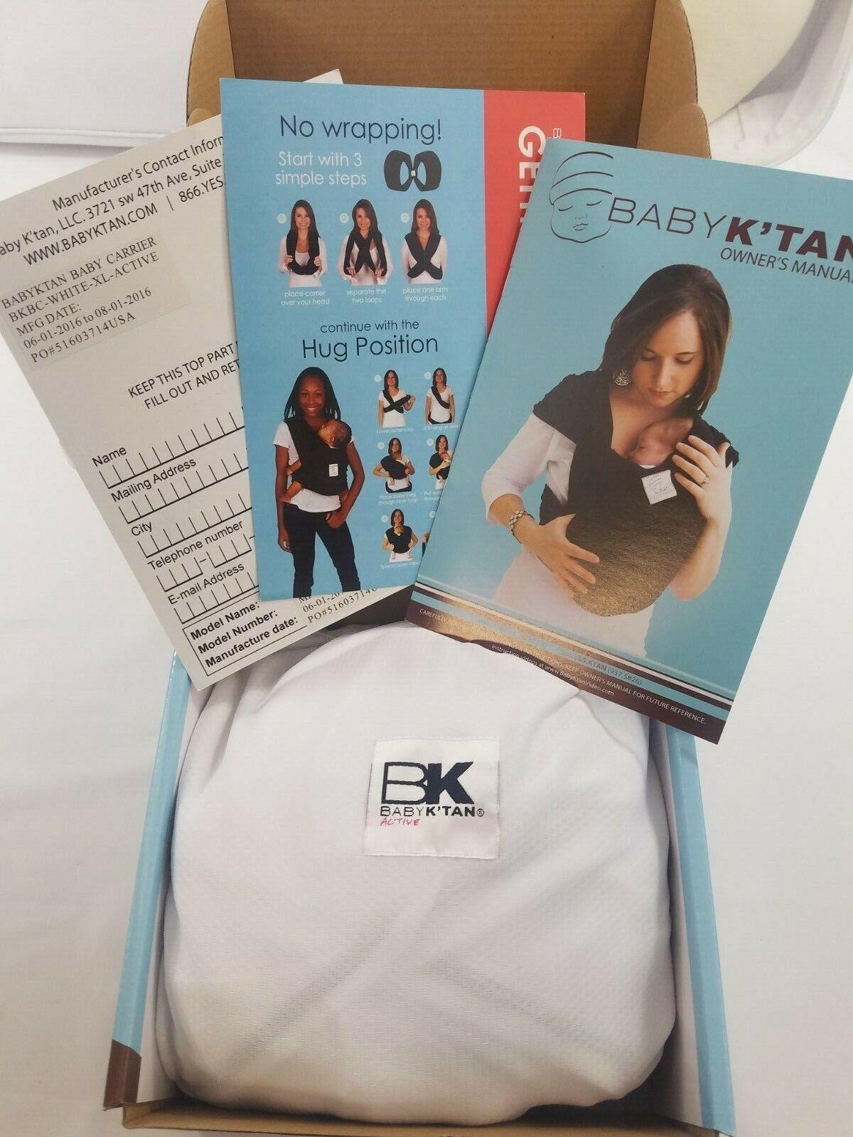 Baby K'tan ORIGINAL,BREEZE,ACTIVE Baby Carrier Black,Teal,Charcoal XXS,S,M,L,XL