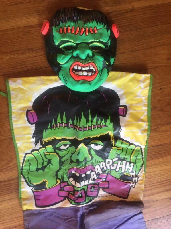 Kusan Frankenstein Monster Costume & Mask in Box Vintage 1970s