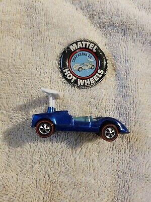 Vintage 1968 HOT WHEELS REDLINE Hong Kong Blue CHAPARRAL 2G with Badge