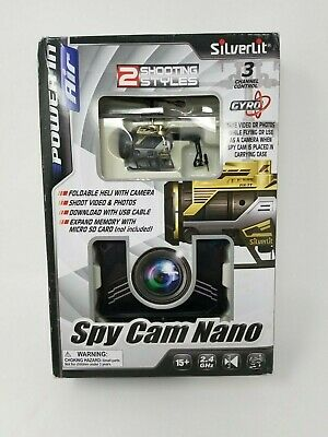New Silverlit Nano Spy Cam Video RC Helicopter Drone Gold/Dismal