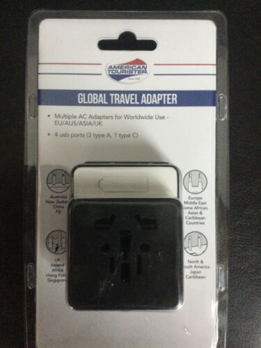 American Tourister Global travel Adapter worldwide use 4 usb ports
