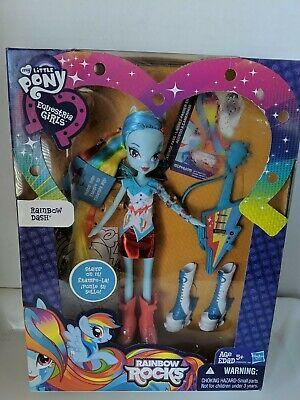 My Little Pony Equestria Girls Rainbow Dash Doll, stamp on it. NIB 2013