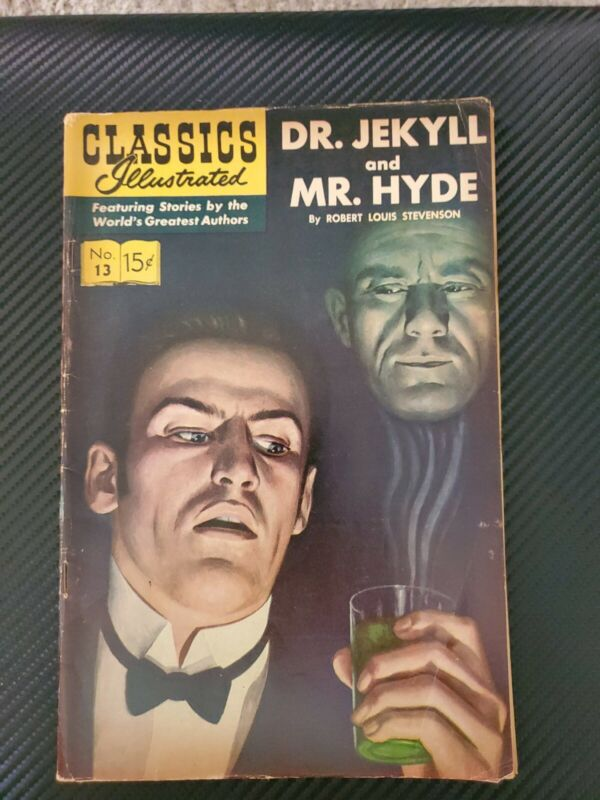 CLASSICS ILLUSTRATED DR JEKYLL AND MR HYDE COMIC # 13 1965