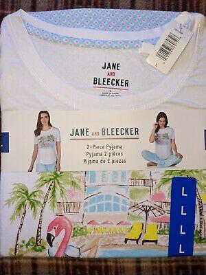 PJ Set Pyjama 2 Pieces by Jane and Bleecker Sleepwear Size Large