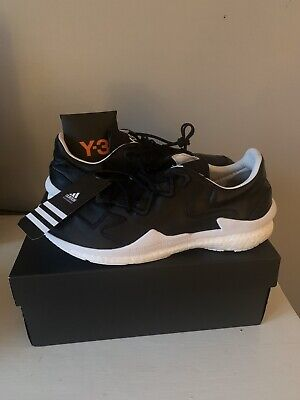 NEW MEN Y-3 ADIDAS 'ADIZERO' BOOST LEATHER RUNNER SNEAKERS SHOES US 10.5