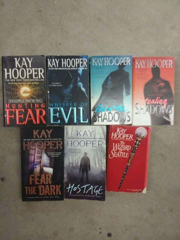 Lot of 7 Kay Hooper Paranormal, Mystery, Thriller, Romance Paperback Books