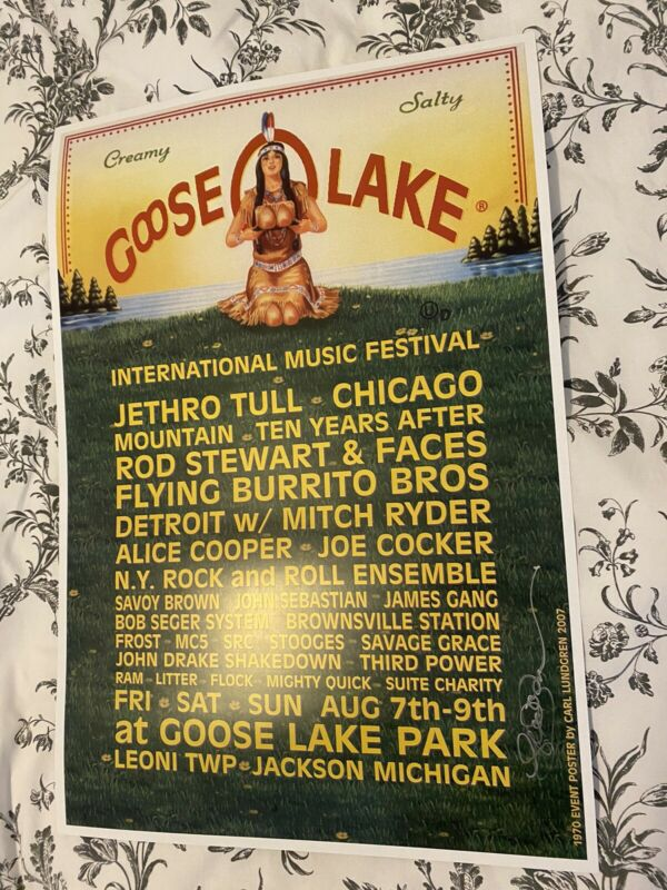 Iggy Pop The Stooges Goose LAKE Festival POSTER Third Man Records DetroitSOLDOUT