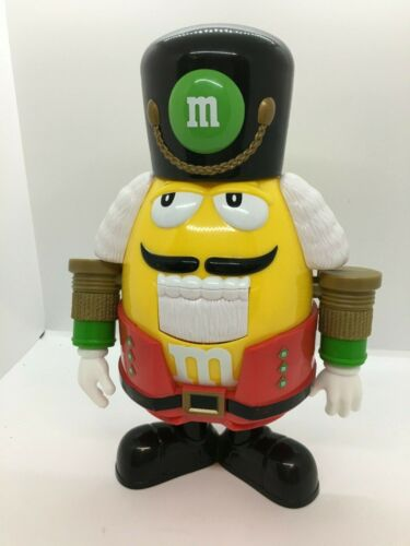 Mars M & M Yellow Red Pants Nutcracker Soldier Candy Dispenser Collectible EUC