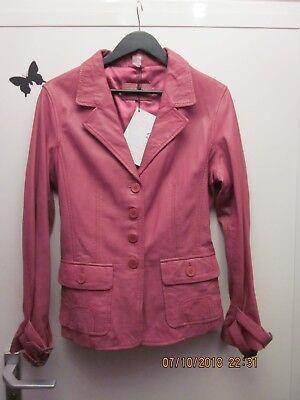 Damen Blazer echt Leder Jacke Größe 46 Pink