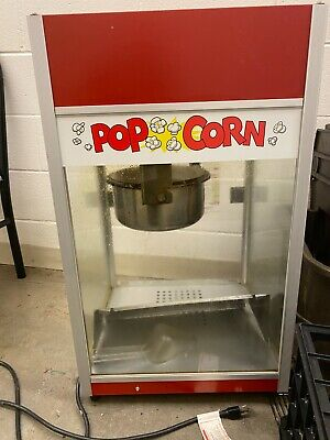 Pre-owned Popcorn Machine Ez Kleen Kettle W Red Dome 6 Oz. Gold Medal 2656