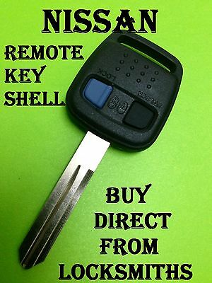 Nissan 2 Buttons Remote key Blank case shell for bluebird  + others