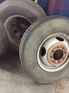 Dually bud wheel rims.