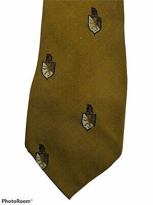 1960s – 70s Men's Ties | Skinny Ties, Slim Ties Vintage Mens Towncraft Penneys Gold Silver Crests Skinny Thin Tie 54