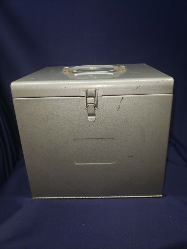 Vintage Antique Brumberger Metal Slide Case Storage Film Case