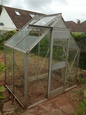Used Eden Aluminium Garden Greenhouse 6ft x 4ft Collection Only Paignton