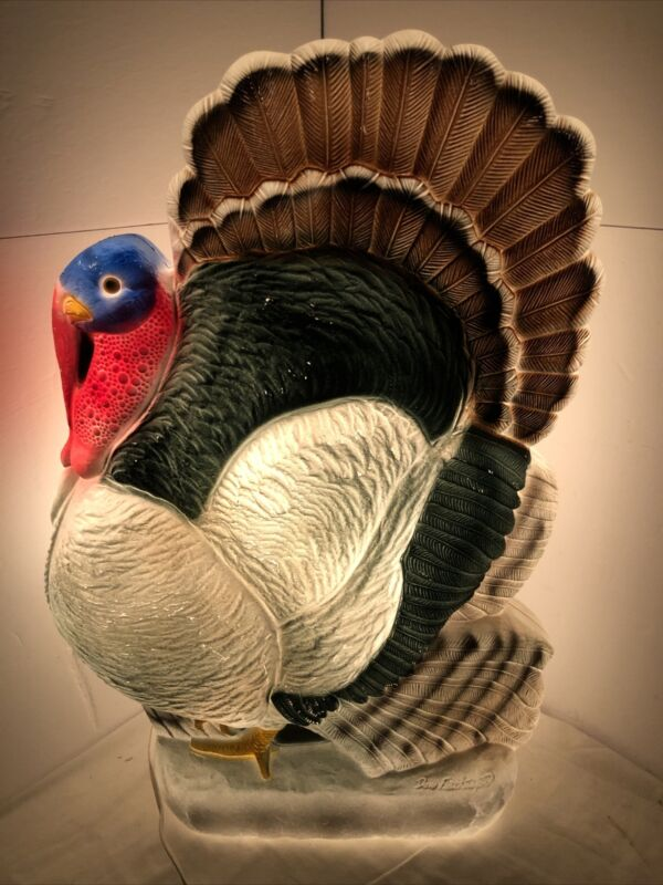 Don Featherstone Turkey Blow Mold Plastic Lighted Decor