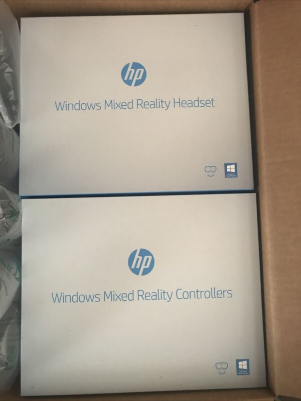 HP Windows Mixed Reality Headset + Controllers (NEVER USED)