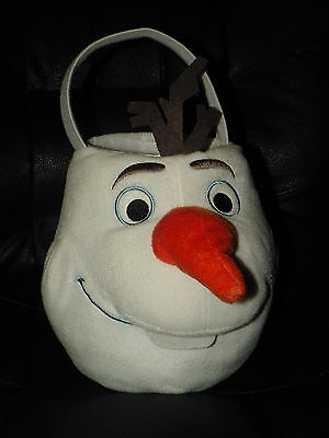 Disney FROZEN Plush Snowman OLAF Halloween Candy PAIL Bucket Easter - Olaf Halloween Pail