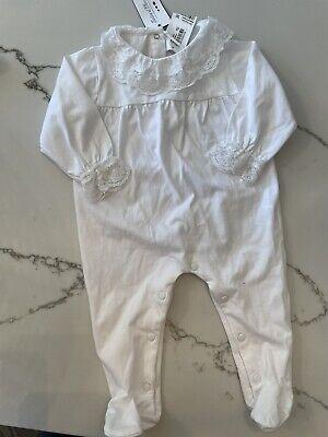 NWT Tartine Et Chocolat White Lace Footie - 9 months