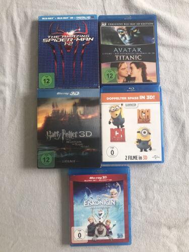 9 Blu-Ray 3D Filme Sammlung