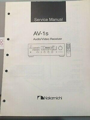 Nakamichi Service Manual AV-1s Audio / Video Receiver -