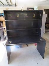Black desk with book shelf and wardrobe Mudgeeraba Gold Coast South Preview