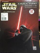 Alto Saxophone Level 2 - 3 practice book Star Wars ~ A Music Journey Daisy Hill Logan Area Preview